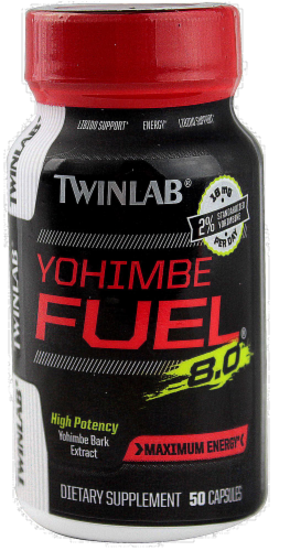 Twinlab Yohimbe Fuel Supplement Perspective: front