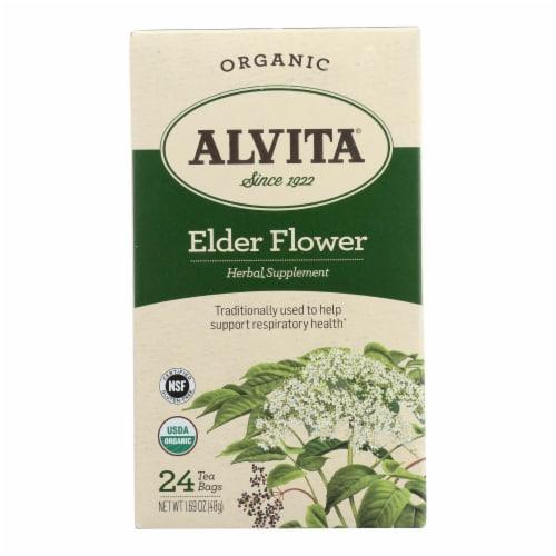 Alvita Organic Elder Flower Tea Perspective: front