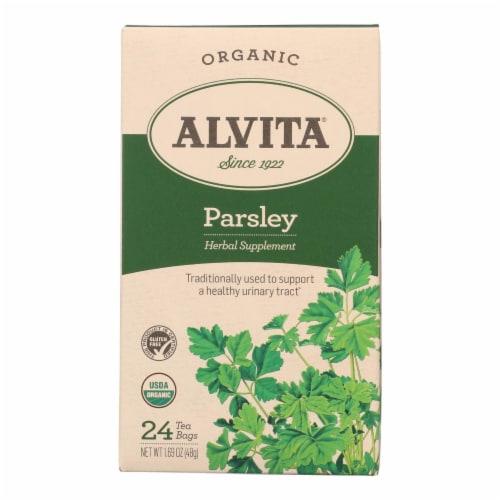 Alvita Organic Parsley Herb Tea Perspective: front