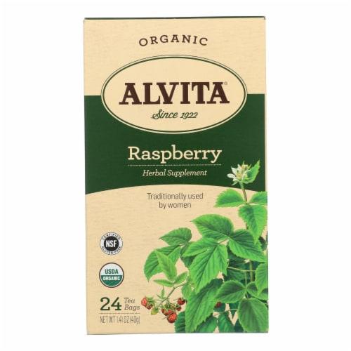 Alvita Teas Raspberry Tea - Organic - 24 Tea Bags Perspective: front