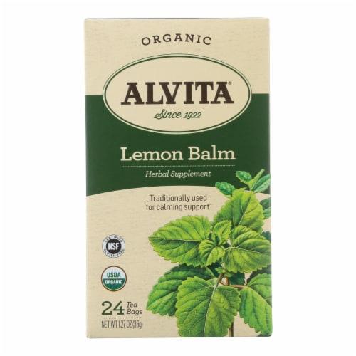 Alvita Tea Lemon Balm - 24 Bag Perspective: front
