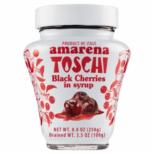 Amarena Toschi Black Cherries in Syrup Perspective: front