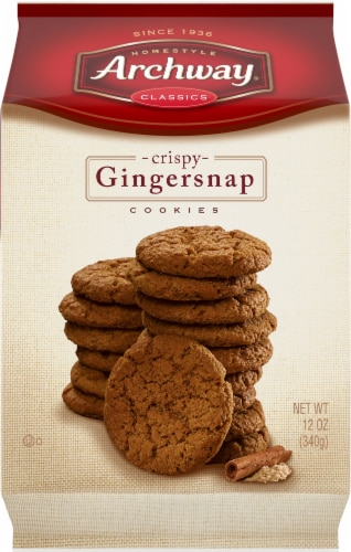 Archway Homestyle Classics Crispy Gingersnap Cookies Perspective: front