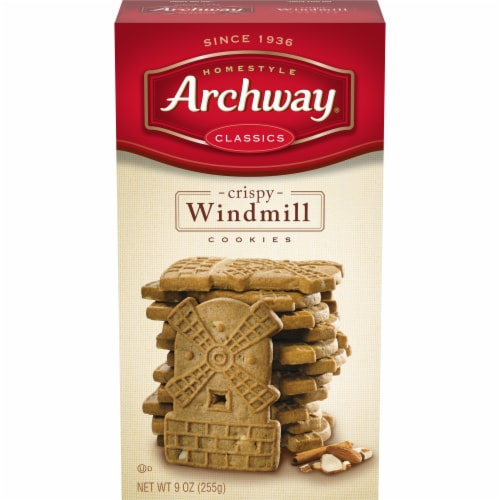 Archway Homestyle Classics Crispy Windmill Cookies Perspective: front