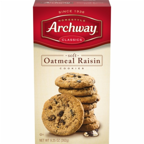 Archway Soft Oatmeal Raisin Cookies Perspective: front