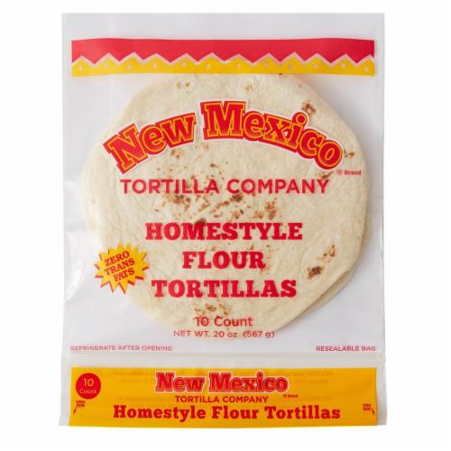 New Mexico Tortilla Company Homestyle Flour Tortillas Perspective: front