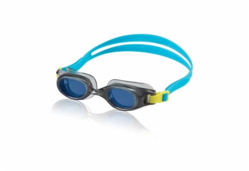 Speedo® Junior Hydrospex Classic Goggle - Gray/Blue Perspective: front