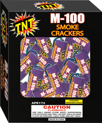 TNT Fireworks Smoke Crackers Perspective: front