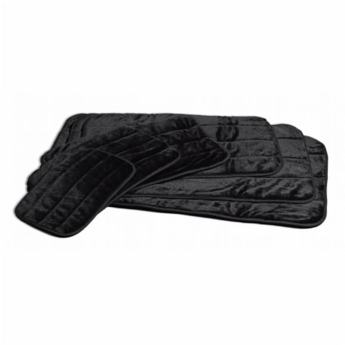Midwest Container Beds - Deluxe Pet Mat- Black 35 X 23 - 40436-BK Perspective: front
