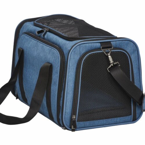 Mid West MW02615 Duffy Expandable Pet Carrier, Blue - Small Perspective: front