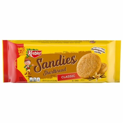 Keebler Classic Sandies Shortbread Cookies Perspective: front