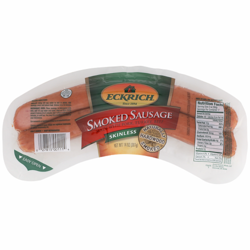 Eckrich Skinless Smoked Sausage Perspective: front