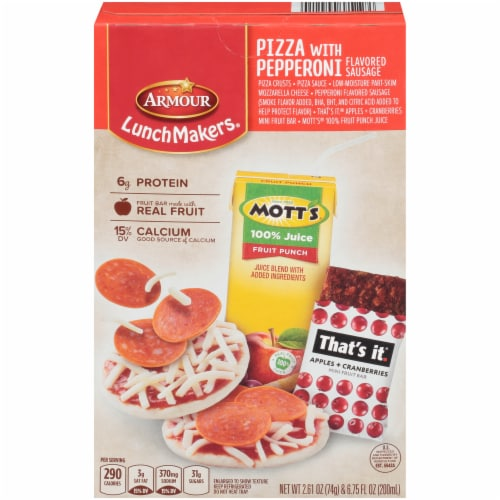 Armour LunchMakers Pizza with Pepperoni Flavored Sausage Lunch Kit Perspective: front