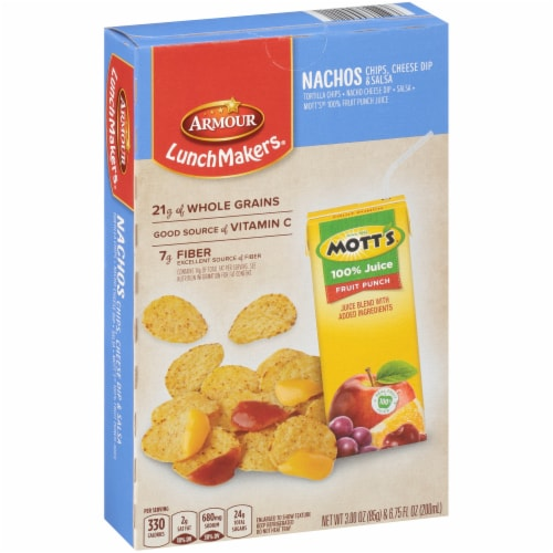 Armour® LunchMakers® Nacho Chips with Cheese Dip & Salsa Lunch Kit Perspective: front