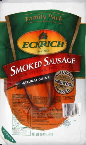Eckrich Original Smoked Sausage Rope Perspective: front