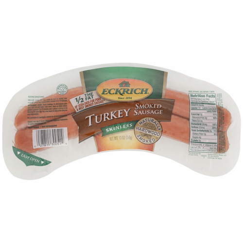 Eckrich® Skinless Smoked Turkey Sausage Perspective: front