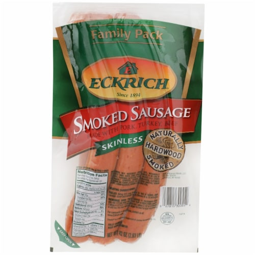 Eckrich® Skinless Smoked Sausages Family Pack Perspective: front