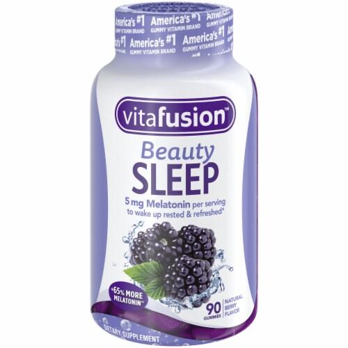 Vitafusion Beauty Sleep Natural Berry Flavor Melatonin Supplement Gummies 90 Count Perspective: front