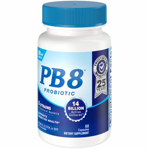Nutrition Now PB 8 Probiotic Acidophilus Capsules 60 Count Perspective: front