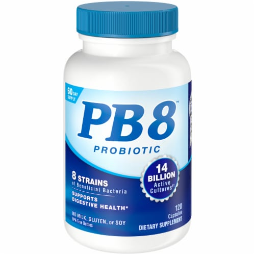 Nutrition Now PB8 Digestive Health Support Capsules Perspective: front