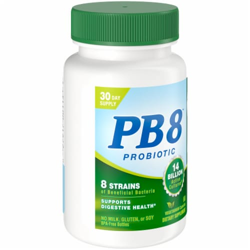 Nutrition Now PB 8 Probiotic Acidophilus for Life Capsules 60 Count Perspective: front