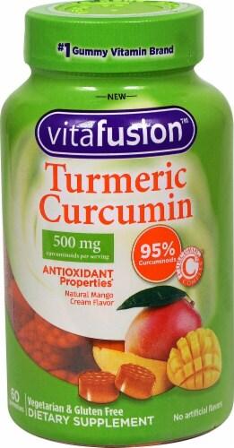 Vitafusion Turmeric Curcumin Natural Mango Cream Flavor Gummies Perspective: front