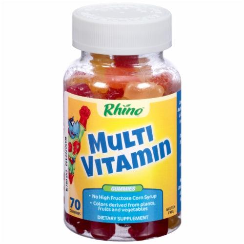 Rhino Multi Vitamin Gummies 70 Count Perspective: front