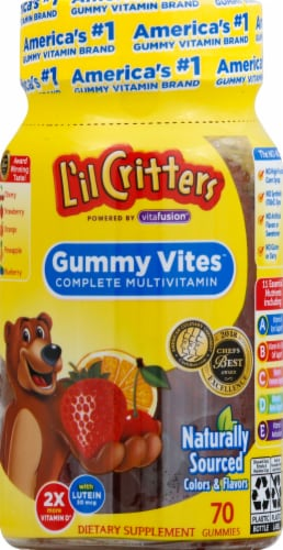 L'il Critters Gummy Vites Complete Multivitamin Gummies 70 Count Perspective: front