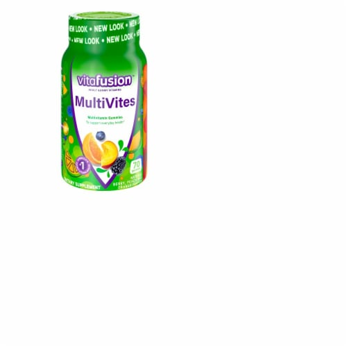 Vitafusion MultiVites Adult Complete Assorted Fruit Multivitamin Gummies Perspective: front