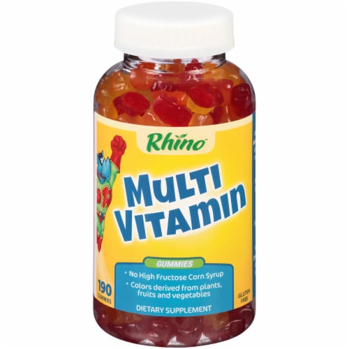 Rhino Multi Vitamin Gummies 190 Count Perspective: front