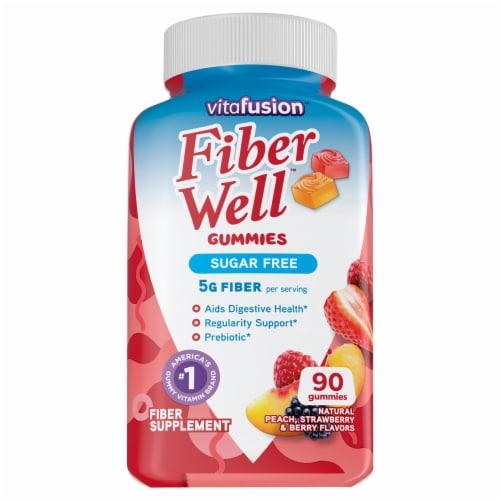 Vitafusion Fiber Well Sugar Free Gummies Perspective: front