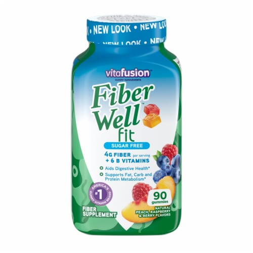 Vitafusion Fiber Well Fit B-Vitamin Gummies Perspective: front