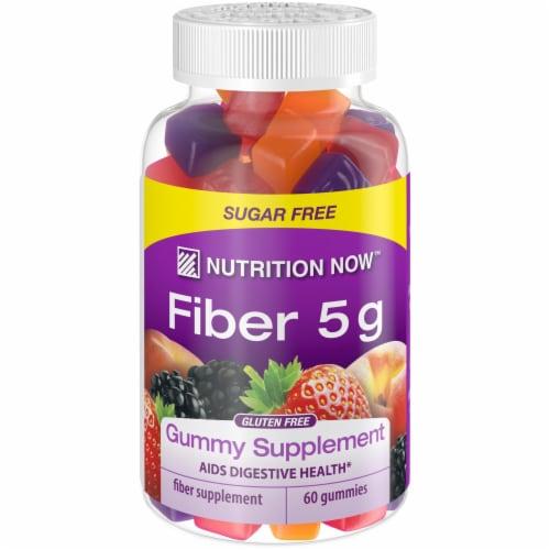 Nutrition Now Fiber 5g Gummy Supplement Perspective: front