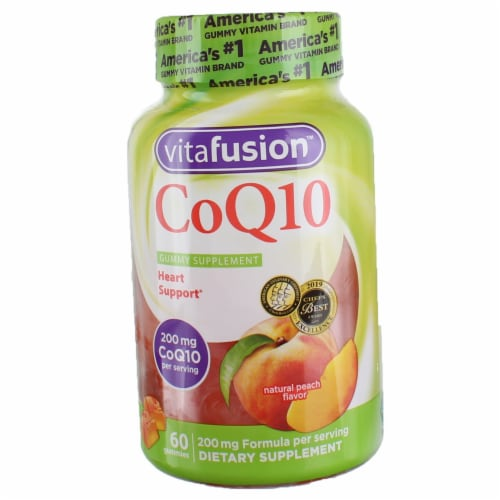 Vitafusion Coq10 Heart Support Peach Gummy Vitamins For Adults Perspective: front