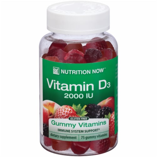 Nutrition Now Vitamin D3 Gummies Perspective: front
