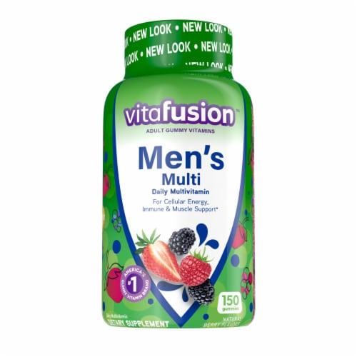 Vitafusion Natural Berry Flavored Men's Multivitamin Gummies Perspective: front