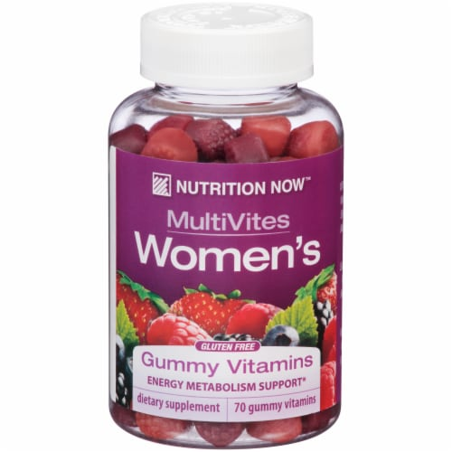 Nutrition Now MultiVites Women's Gummy Vitamins Perspective: front