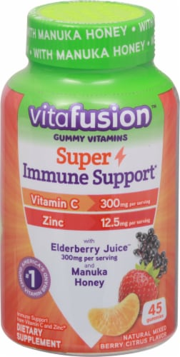 Vitafusion Citrus Berry Flavor Super Immune Support Gummies Perspective: front