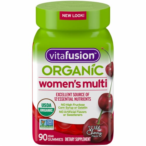 Vitafusion Organic Womens Multi Gummies 90 Count Perspective: front