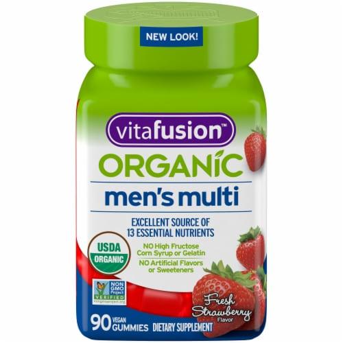 Vitafusion Organic Men's Mult vitamin Gummies 90 Count Perspective: front