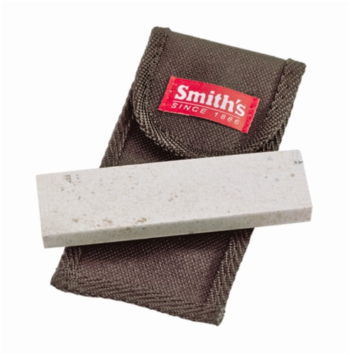 Smith's Arkansas Sharpening Stone with Pouch Perspective: front