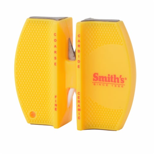 Smith's 2-Step Knife Sharpener - Yellow Perspective: front