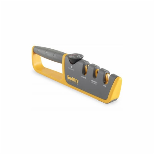 Smith's Adjustable Manual Knife Sharpener - Gray/Yellow Perspective: front