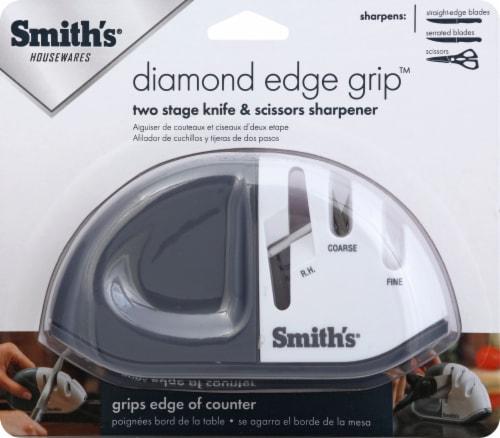 Smith's Diamond Edge Grip MAX Knife Sharpener - Gray/White Perspective: front