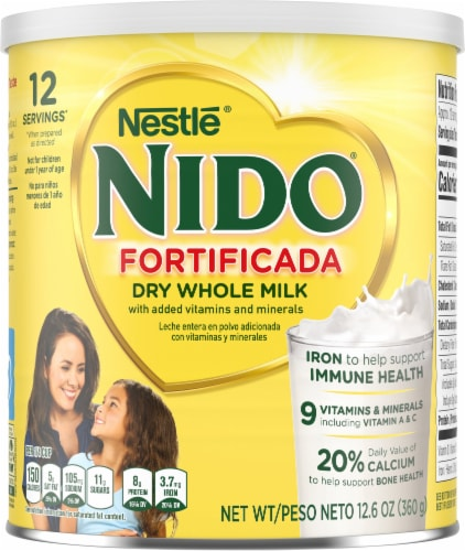 NIDO Fortificada Dry Whole Milk Powdered Drink Mix Perspective: front