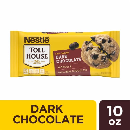 Nestle Toll House Dark Chocolate Chips Bag Perspective: front
