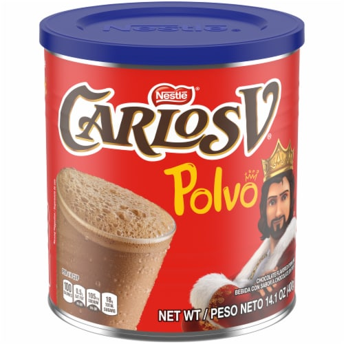 Nestle Carlos V Chocolate Powder Drink Mix Perspective: front