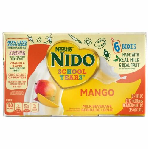 NIDO School Years Mango Milk Beverage Perspective: front