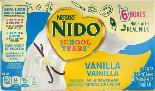 NIDO School Years Vanilla Milk  Beverage Perspective: front