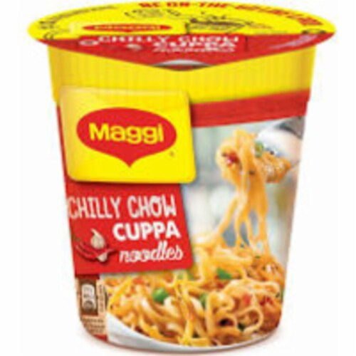 Maggi Chilli Chow Cuppa Noodles - 71 Gm Perspective: front